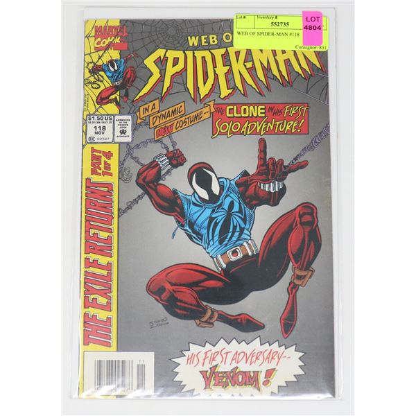 WEB OF SPIDER-MAN #118