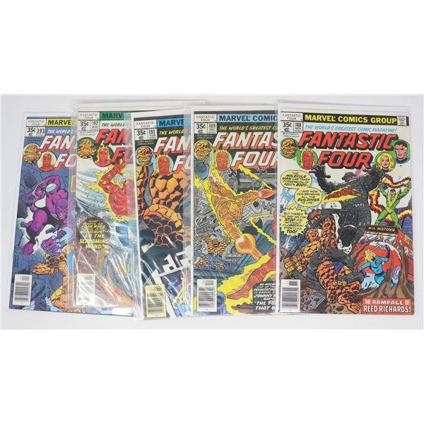 FANTASTIC FOUR COMICS --- 5 ISSUES