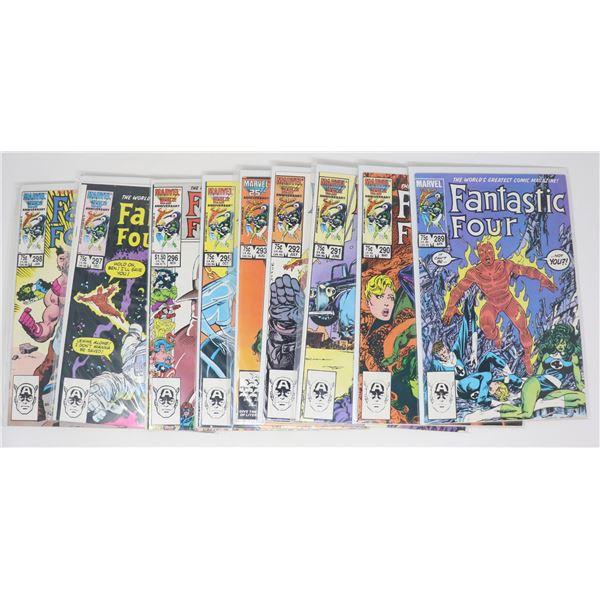 FANTASTIC FOUR COMICS --- 10 ISSUES