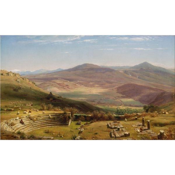 Worthington Whittredge - The Amphitheatre of Albano Mountains