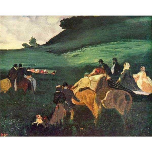 Edgar Degas - Riders In The  Landscape