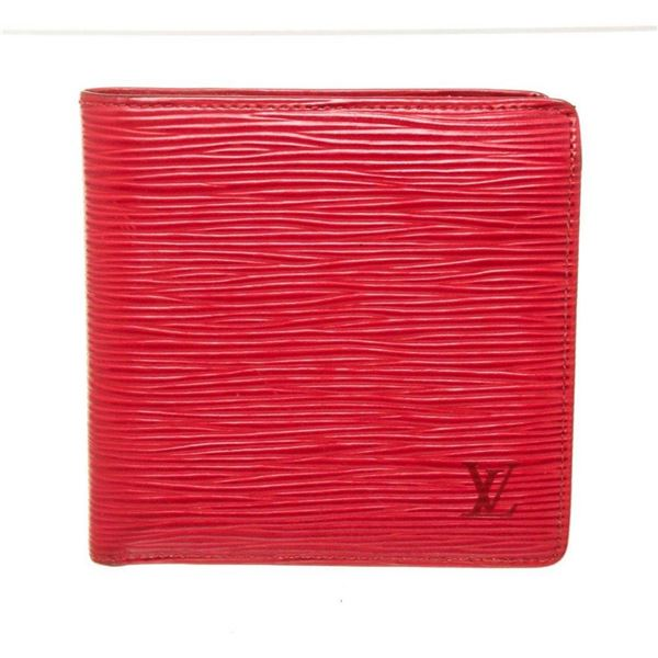 Louis Vuitton Red Epi Bifold Wallet