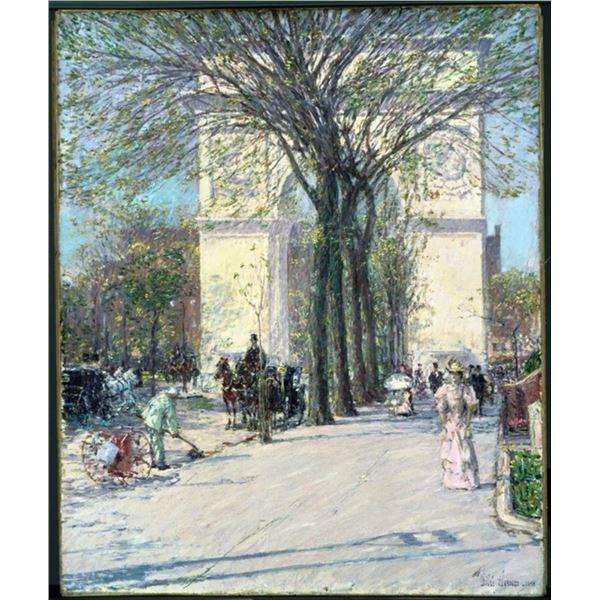 Childe Hassam - Washington Arch in Spring
