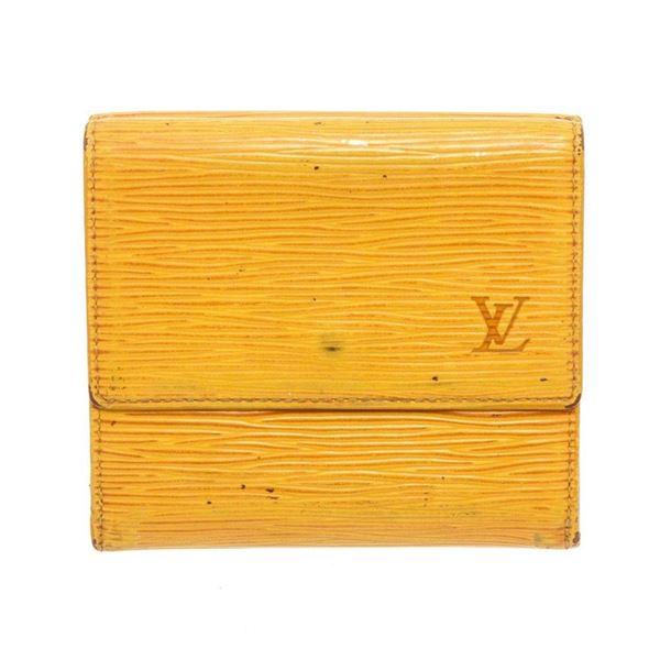 Louis Vuitton Yellow Epi Leather Elise Wallet