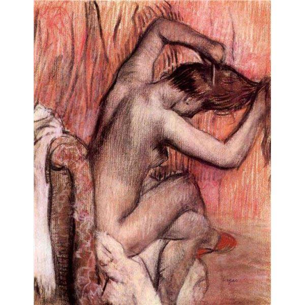 Edgar Degas - Sitting And Brushing