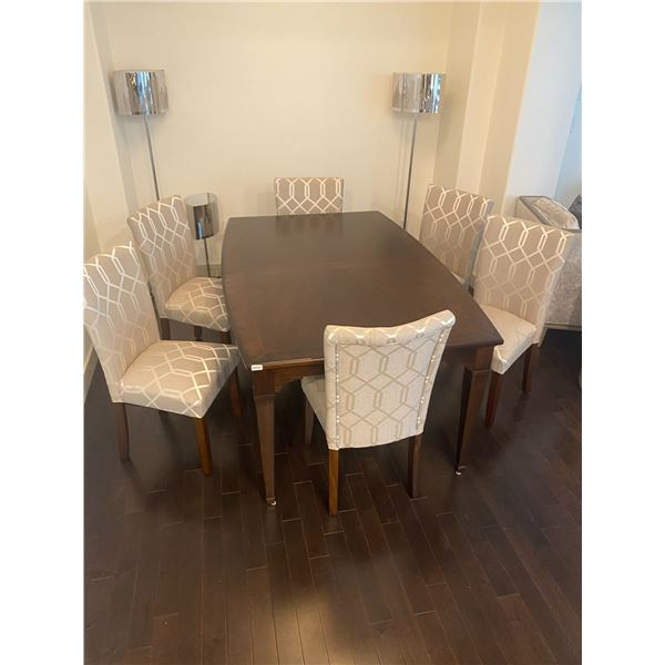 """Dining Table with 6 Chairs 46""""W x 70""""L x 30.5""""H"""