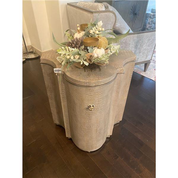 """McArthur Fine Furniture Unique Side Table with Decoration 24""""W x 25""""L x 26""""H"""