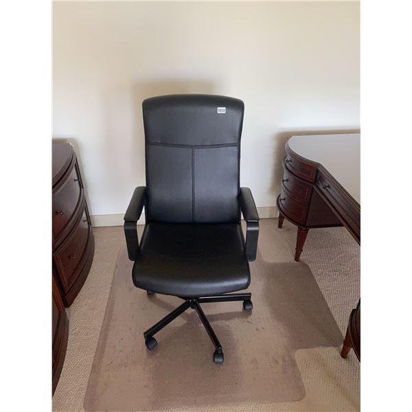 "Office Chair on Wheels 25""W x 21""D x 46""H"
