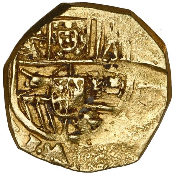 Seville, Spain, cob 2 escudos, 1699/8 M, very rare (unlisted), NGC AU 58, finest and only example in