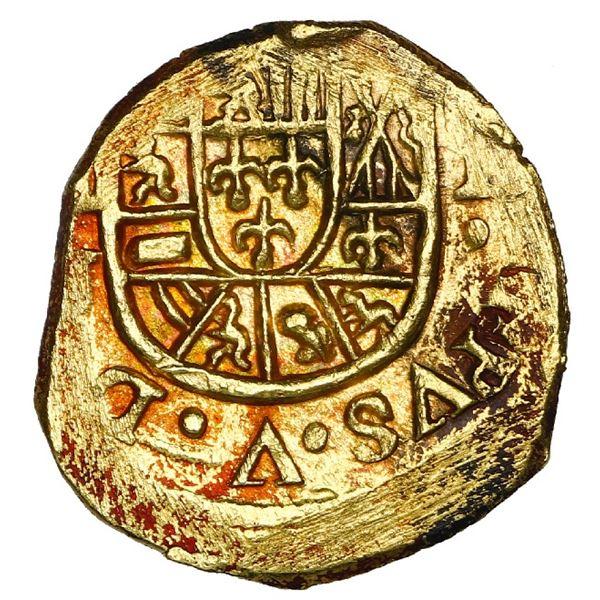 Mexico City, Mexico, cob 1 escudo, (1714) J, NGC MS 61, ex-1715 Fleet.