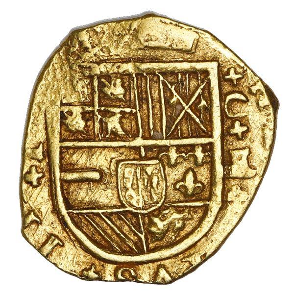Cartagena, Colombia, cob 2 escudos, Philip IV, assayer E below mintmark C to right, NGC AU 58.
