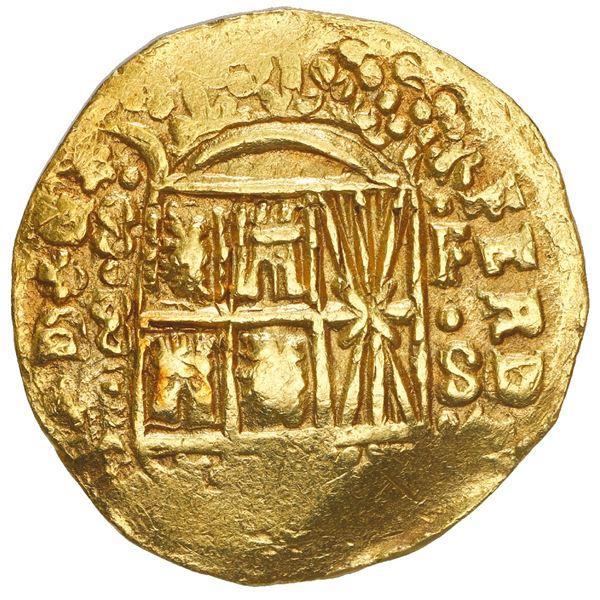 Bogota, Colombia, cob 8 escudos, 1751, assayer S above denomination 8 to left, mintmark F-S to right