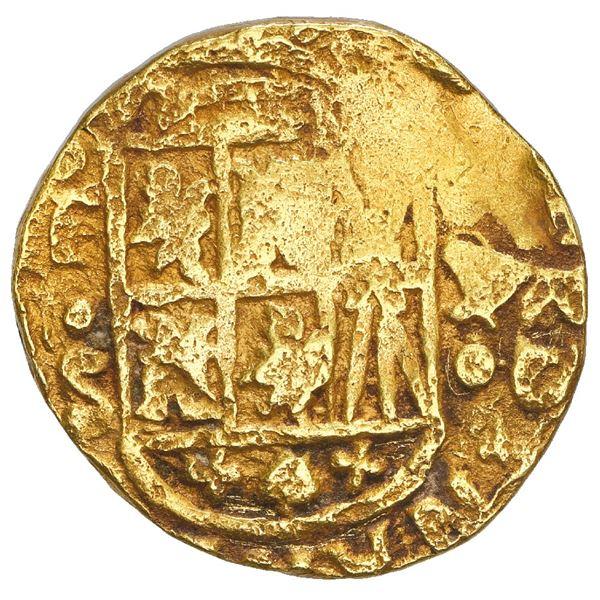 Bogota, Colombia, cob 4 escudos, 1751, assayer S above denomination 4 to right, mintmark FS to left,