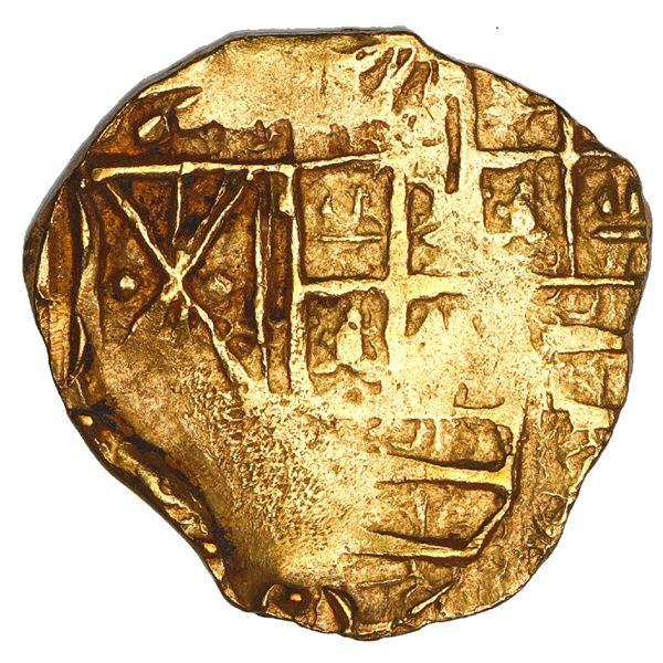 Bogota, Colombia, cob 2 escudos, Charles II, assayer not visible, NGC MS 62, ex-1715 Fleet, ex-Art M