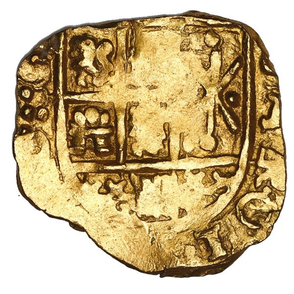 Bogota, Colombia, cob 2 escudos, 1705, no assayer (Arce), NGC MS 63, ex-1715 Fleet.