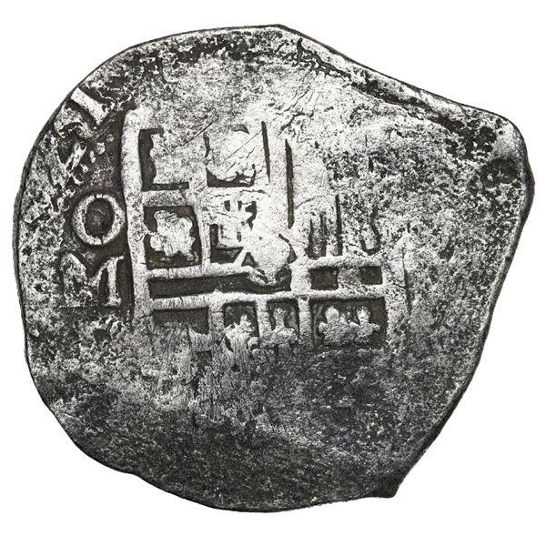 Mexico City, Mexico, cob 4 reales, 1621 D, Grade 1.