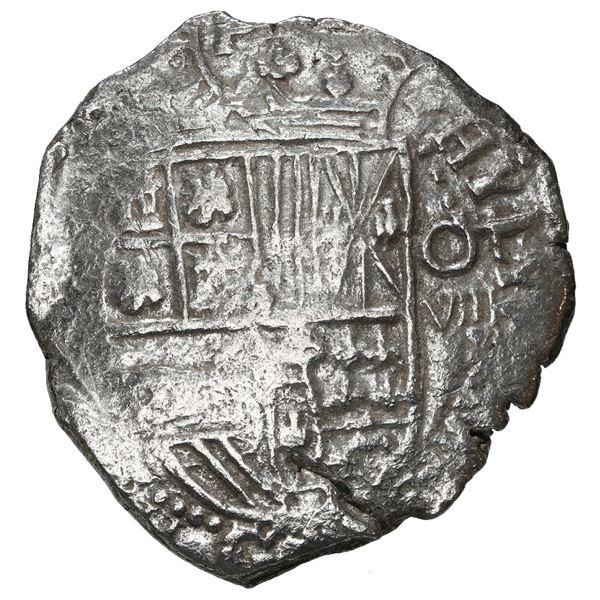Potosi, Bolivia, cob 8 reales, 1617 (M), Grade 1.