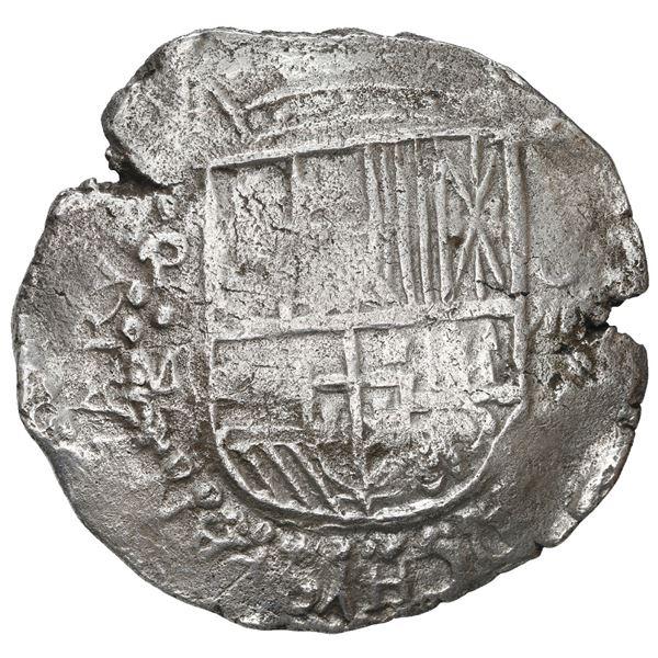 Potosi, Bolivia, cob 8 reales, 1617 M, Grade 1, ex-Hebert.