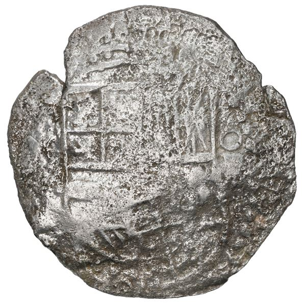 Potosi, Bolivia, cob 8 reales, 1617 M, Grade 3.