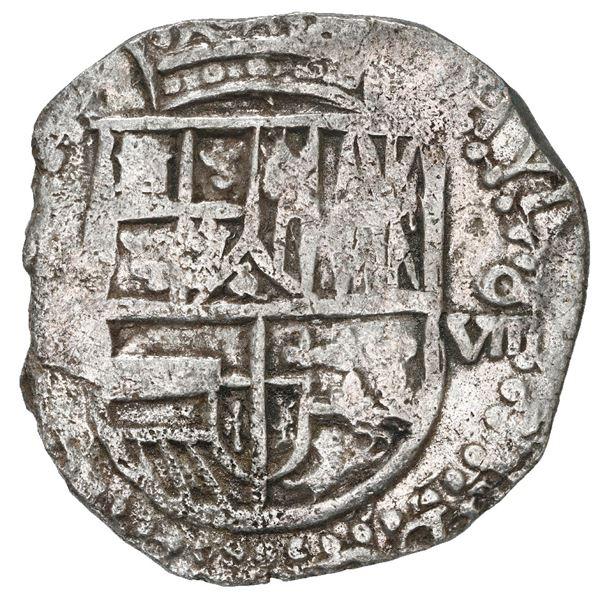 Potosi, Bolivia, cob 8 reales, 1618 (T), Grade 1.