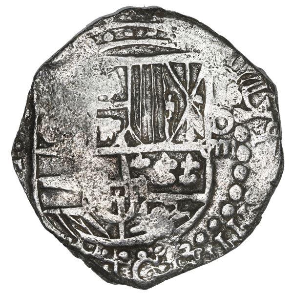 Potosi, Bolivia, cob 8 reales, 1619 T, Grade 1.