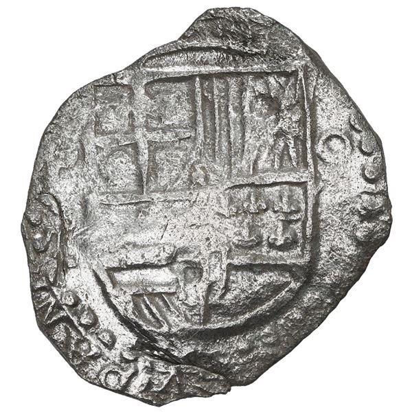 Potosi, Bolivia, cob 8 reales, 1619 T, Grade 2.