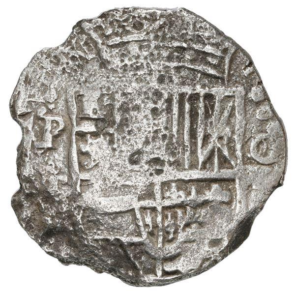 Potosi, Bolivia, cob 8 reales, 1620 T, Grade 1.