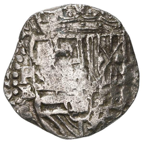 Potosi, Bolivia, cob 4 reales, Philip II, assayer B (5th period), Grade 2.