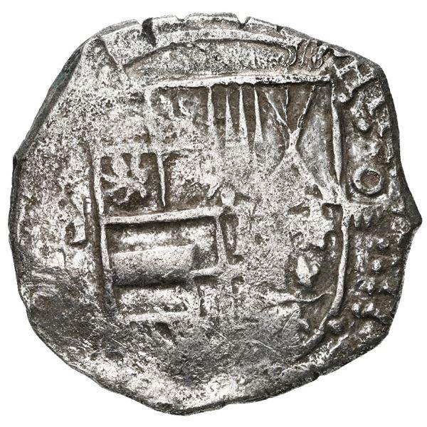 Potosi, Bolivia, cob 4 reales, 1617 M, Grade 1.