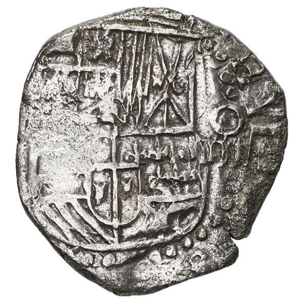 Potosi, Bolivia, cob 4 reales, 1617 (M), Grade 1.