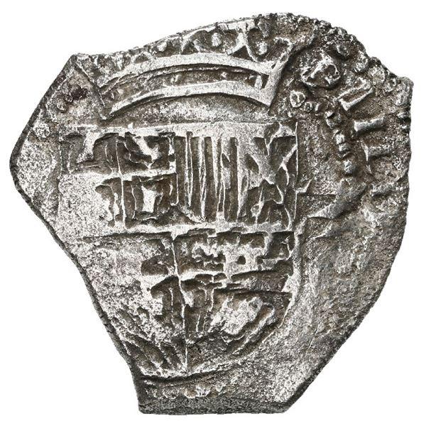 Potosi, Bolivia, cob 2 reales, Philip III, assayer not visible, Grade 1.