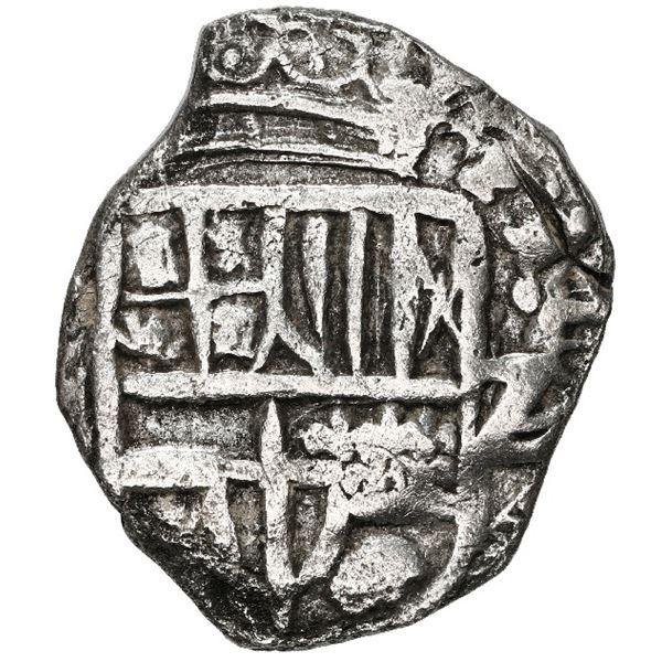 Potosi, Bolivia, cob 2 reales, Philip III, assayer not visible, Grade 2.