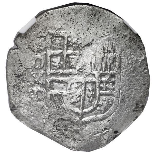 Mexico City, Mexico, cob 8 reales, Philip III, assayer D, NGC Shipwreck Effect / Sao Jose.