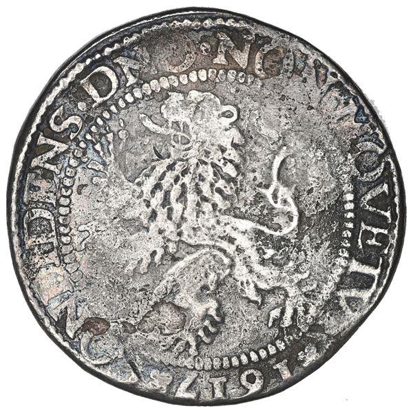 """Zeeland, United Netherlands, """"lion"""" daalder, 1617, date at 6 o'clock."""