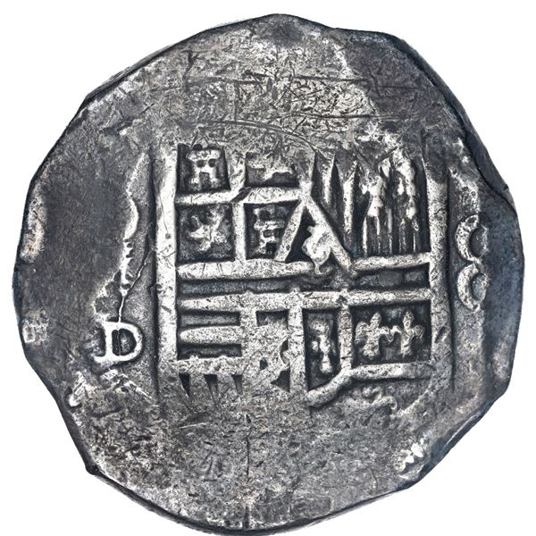 Mexico City, Mexico, cob 8 reales, Philip IV, assayer D, ex-Spink.