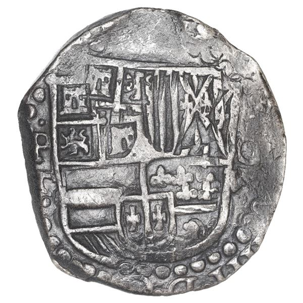Potosi, Bolivia, cob 8 reales, Philip IV, assayer T (1628-9).
