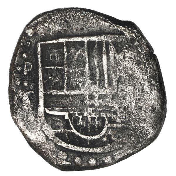 Potosi, Bolivia, cob 2 reales, 1629 T, rare.