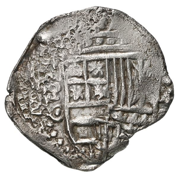 Potosi, Bolivia, cob 4 reales, 1650 O, no countermark (rare), Mastalir Plate.