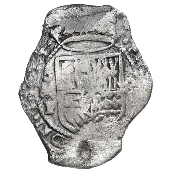 Mexico City, Mexico, cob 8 reales, 1654 P.
