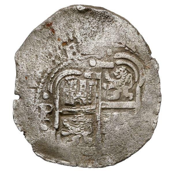 Potosi, Bolivia, cob 8 reales, 1653 E, dot-PH-dot at top, ex-MAREX.