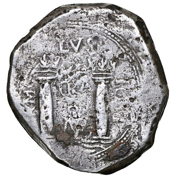 Bogota, Colombia, cob 8 reales, 1651 PoRMOS, NGC VF details / sea salvaged / Association (1707).