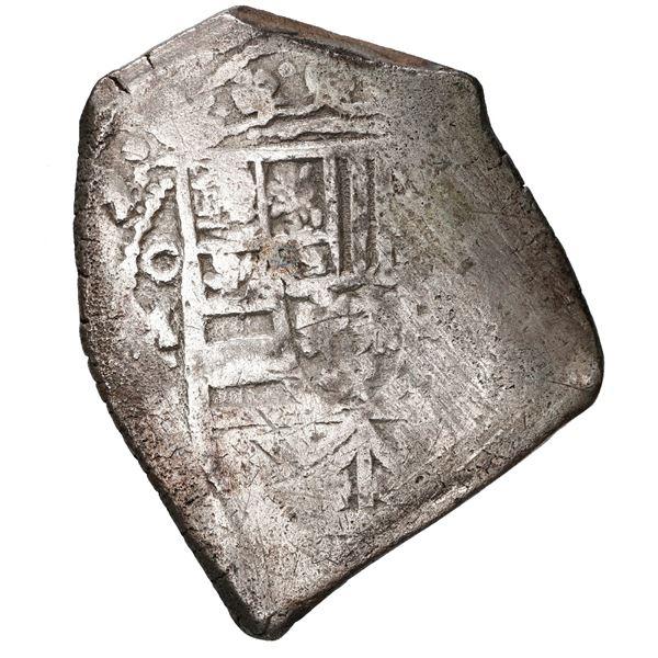 Mexico City, Mexico, cob 8 reales, 1709 J, rare.