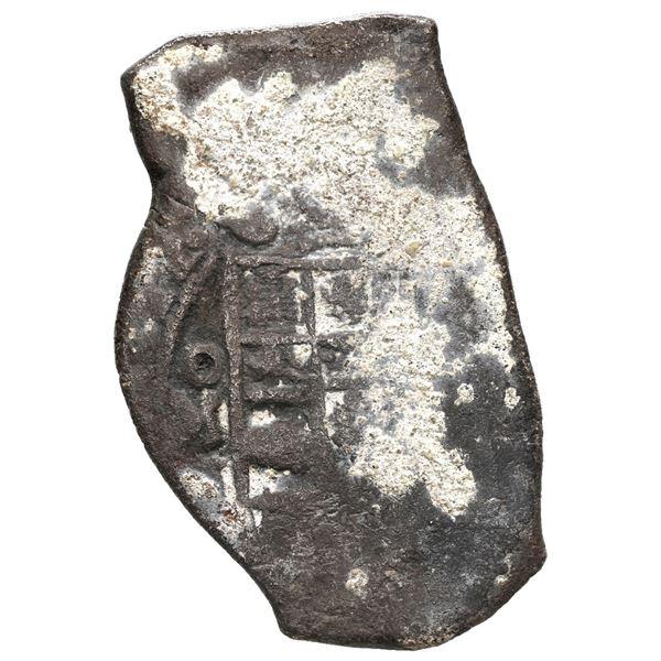Mexico City, Mexico, cob 8 reales, 1712 J, encrusted (as found), ex-Pullin.