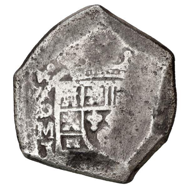 Mexico City, Mexico, cob 8 reales, 1714 J (new style).