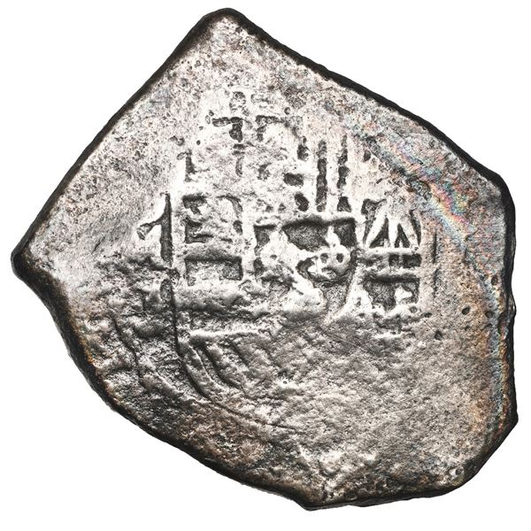 Mexico City, Mexico, cob 8 reales, Philip V, assayer J, NGC Fine details / sea salvaged / Whydah (17
