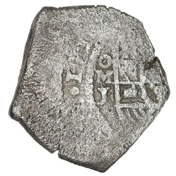 Mexico City, Mexico, cob 8 reales, 1718 J, rare.