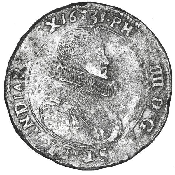 Tournai, Spanish Netherlands, portrait ducatoon, Philip IV, 1631.