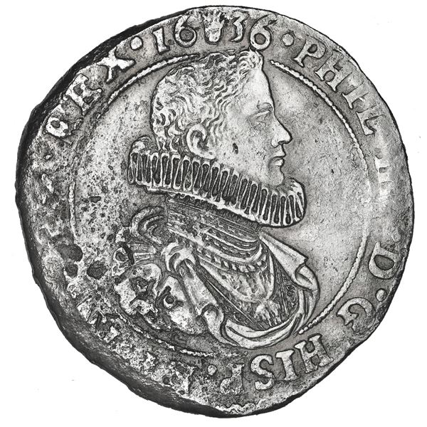 Brabant, Spanish Netherlands (Antwerp Mint), portrait ducatoon, Philip IV (young bust in ruffled col