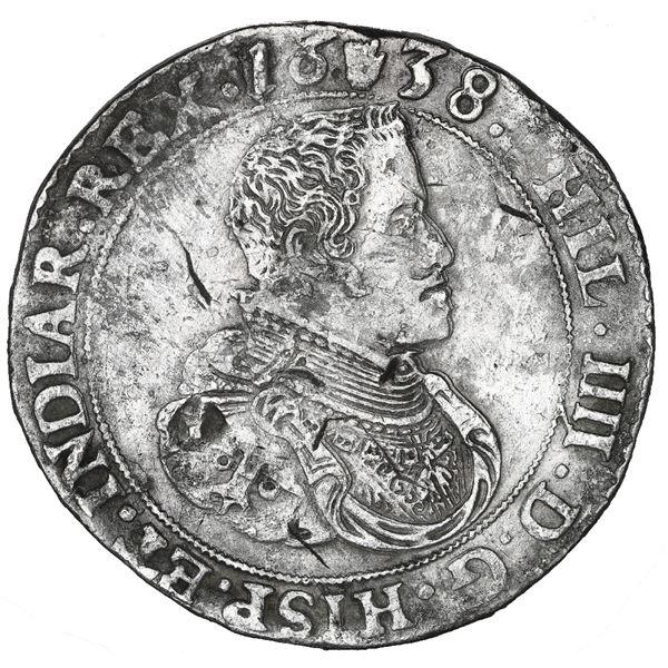 Brabant, Spanish Netherlands (Antwerp Mint), portrait ducatoon, Philip IV, 1638.