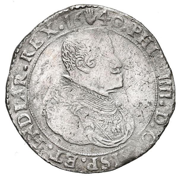 Brabant, Spanish Netherlands (Antwerp Mint), portrait ducatoon, Philip IV, 1640.